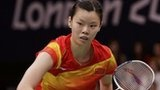 Young Chinese sensation Li Xuerui beats compatriot Wang Yihan two sets to one after a nail-biting finish in the women's badminton final at the Wembley Arena.