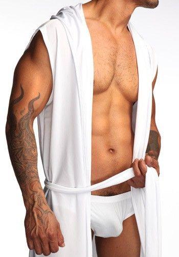 Free Shipping Men Sexy Robe Black Japanese Robe Men Bathrobe Mens Short Robes