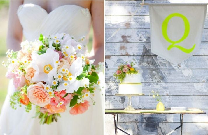 romantic wedding inspiration classic with modern neon pops 1