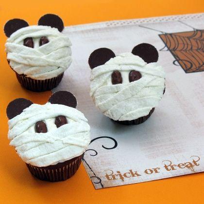 Mickey Mummy Cupcakes #Halloween