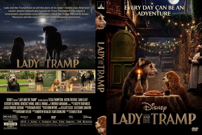 Lady And The Tramp 2019 Dvd Custom Cover Dvd Cover Design Romantic Adventures Lady And The Tramp