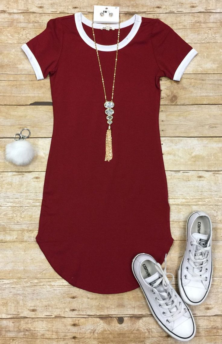 Game Changer Tunic Dress: Burgundy from privityboutique