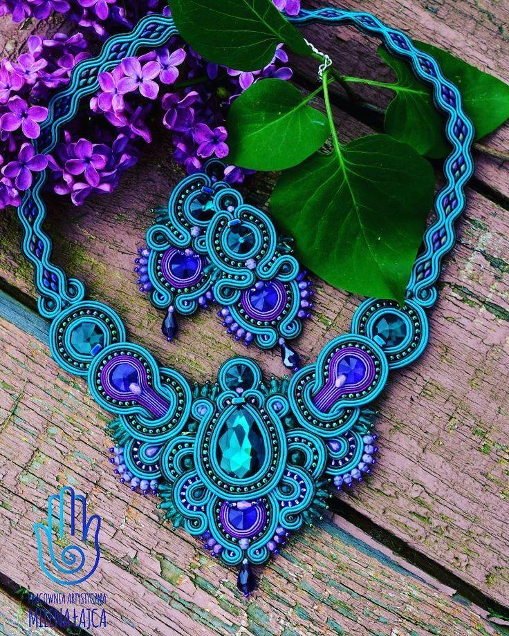 """146 Likes, 10 Comments - Milena Łajca (@pracowniaartystyczna) on Instagram: """"Emerald set <3 #emerald #szafir #violet #fiolet #handmade #rekodzielo #rękodzieło #jewelry…"""""""