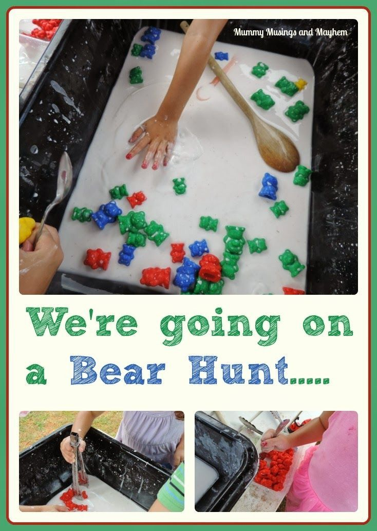 Going on a Goopy Bear Hunt..A fun sensory activity incorporating fine motor skills, colour recognition, classification and counting. Mummy M...