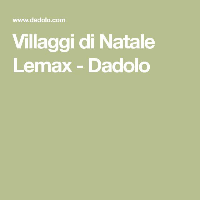 Villaggi di Natale Lemax - Dadolo