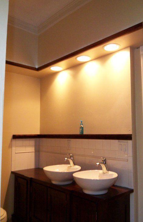 Gorgeous Bathroom Sink Soffit Lighting Modern Design Ideas