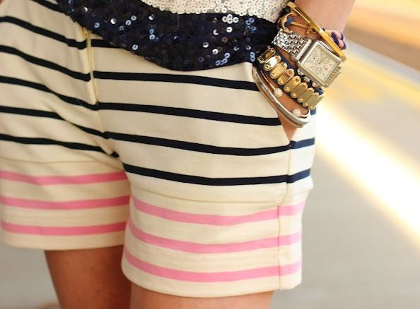 Striped shorts, want