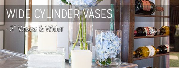 Cylinder Vases | Cylinders for Candles | Glass Cylinder Candle Holders