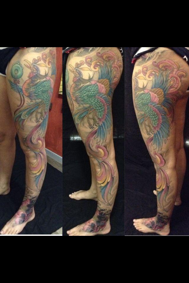 Paradijs vogel gemaakt door Sparta tattoo