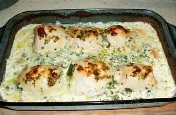 Zobrazit detail - Recept - Zapečené, smetanové kuřecí závitky se špenátem