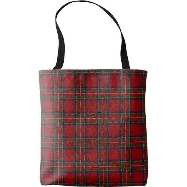 Scottish Clan Stewart Red Royal Tartan Plaid Tote Bag | Zazzle