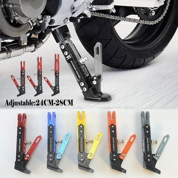 CNC Motorcycle Parking Stand Side Anti-slip Support Stand Kickstand Adjustable