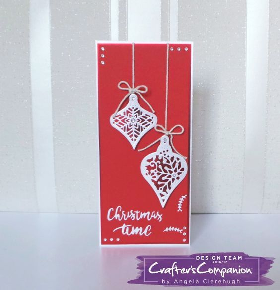 DL Card made using Sara Signature Scandinavian Christmas Collection – Designed by Angela Clerehugh #crafterscompanion