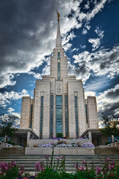 """The Lord is With Us"" Oquirrh Mountain LDS Temple. www.reflectedpixel.com"