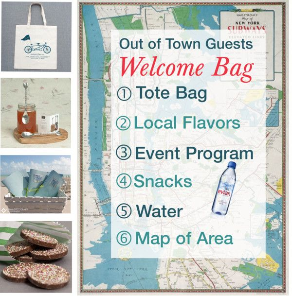 20 best out of town guests images on pinterest wedding for Wedding welcome gifts for out of town guests