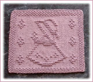 Sweet little girl dishcloth (or patchwork throw square?) by knitsbyrachel.com and pattern is free.