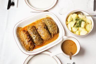 Classic German Cabbage Rolls: Stuffed German Cabbage rolls