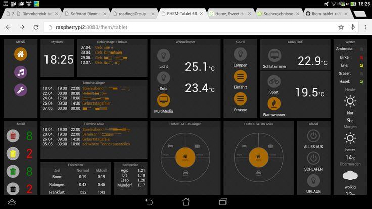Neue Oberfläche unseres SmartHome mit FHEM