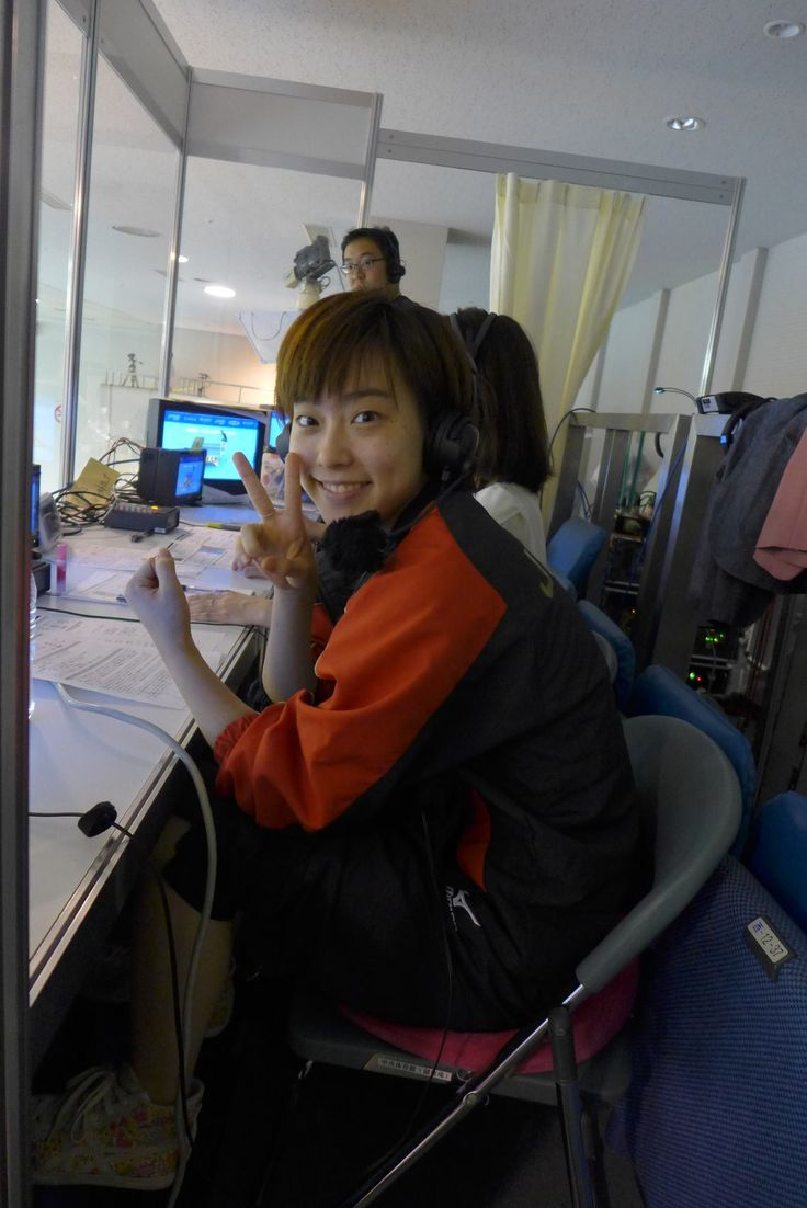 Look who joined TV Tokyo as commentator on the final day of the Women's World Cup in Kobe! #ITTFWorldCup Did anyone catch her commentary? (Kasumi Ishikawa)