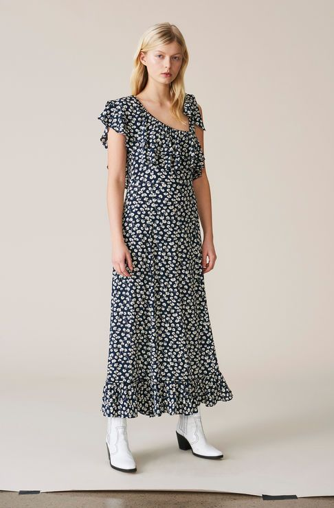 b4f1cf9662 Roseburg Crepe Maxi Dress