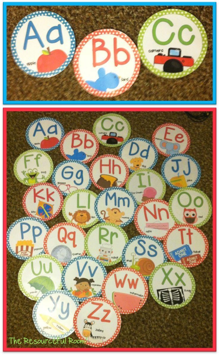 Classroom Freebies Too: Polka Dot Alphabet Line!