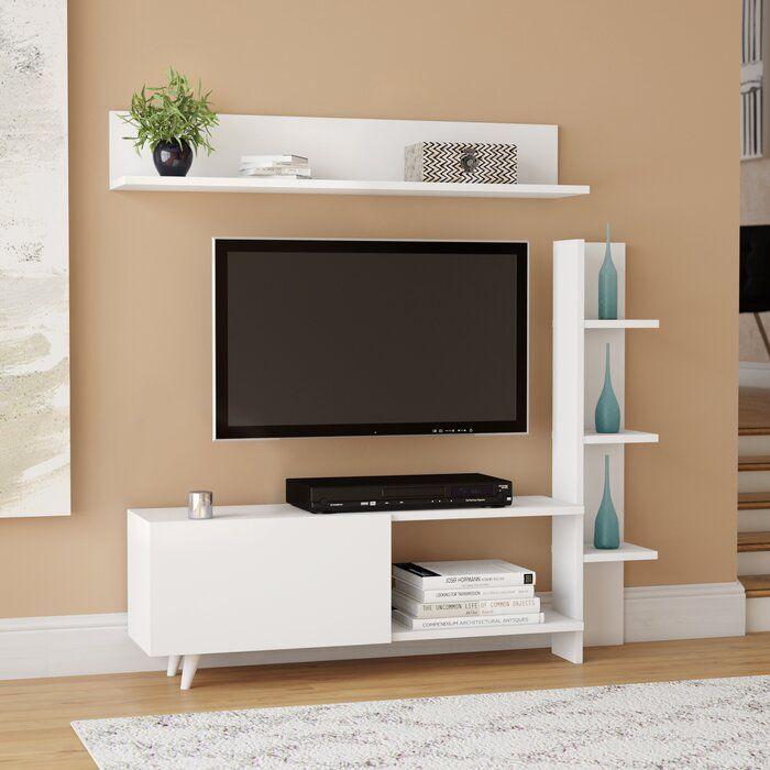 Wrought Studio Morse Tv Stand For Tvs Up To 55 Reviews Wayfair Wall Tv Unit Design Tv Room Design Tv Unit Decor