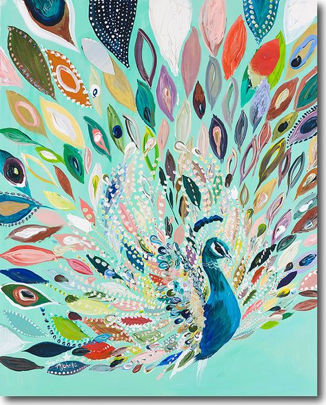Peacock Blue - SkylineArtEditions.com