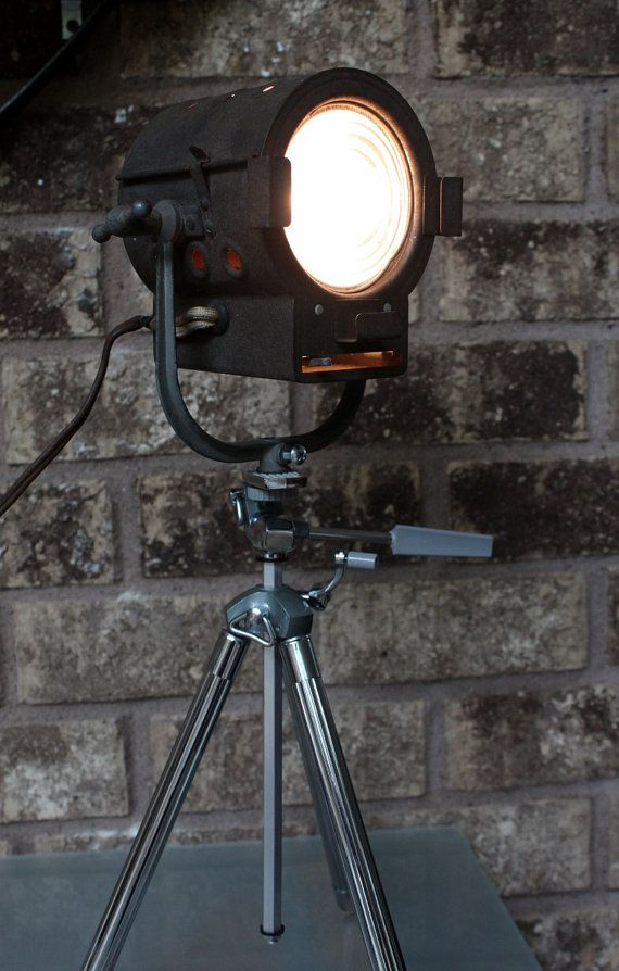 Home Theater Decor  Mini Stage light  Vintage by LightAndTimeArt