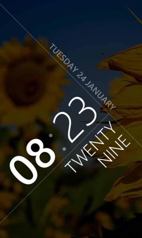 MetroTime app for showing a minimalistic but beautiful clock on your Windows Phone lockscreen