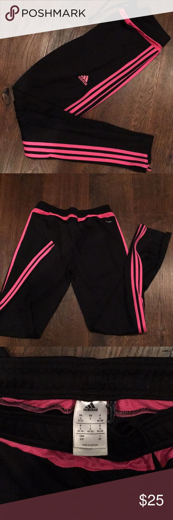 Adidas climacool tapered trainer pants black/pink Adidas climacool tapered trainer pants black/pink like new adidas Pants Track Pants & Joggers