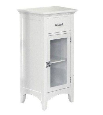 This Madison Avenue Floor Cabinet is actually marketed for bathroom storage but the narrow cabinet with drawer could work well as a nightstand, too.