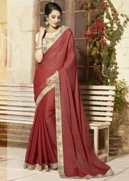 Embroidered Work Party Wear Designer Saree