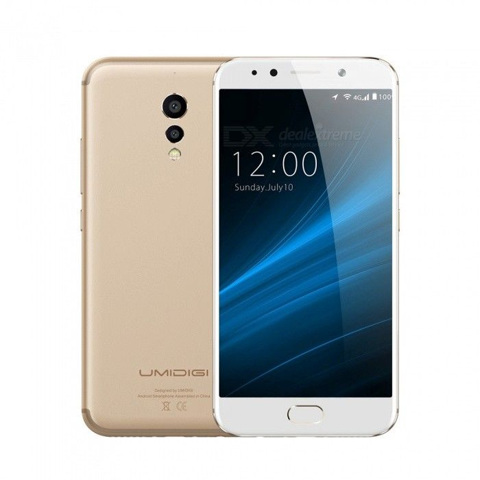 "UMIDIGI S 5.5"" Octa-core 4G Phone with 4GB RAM 64GB ROM - Golden - Free Shipping - DealExtreme"
