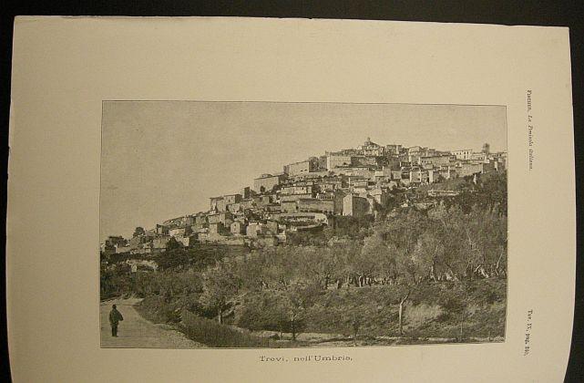 Trevi nell'Umbria. s.d. (ma 1902). Umbria -  veduta - Stampa - Geografia - Umbria - Trevi