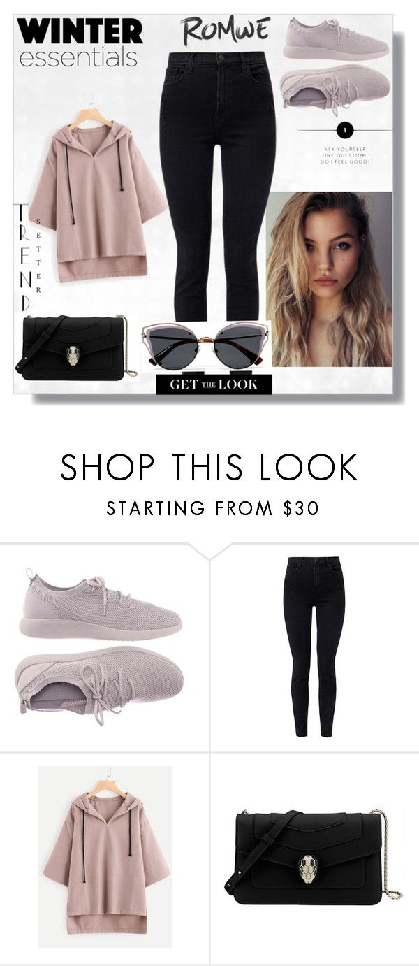 """ROMWE"" by melisamesanovic ❤ liked on Polyvore featuring J Brand, Bulgari and Valentino"