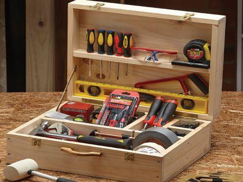 caja de herramientas madera