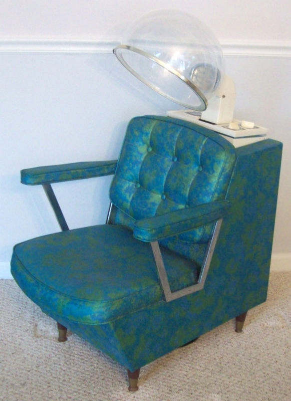 A cool retro salon chair. I'd fall asleep in this thing and probably fry my hair, but it would be worth it.