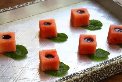 Watermelon Balsamic Cubes