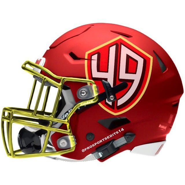 San Francisco 49ers Niners concept design football helmet