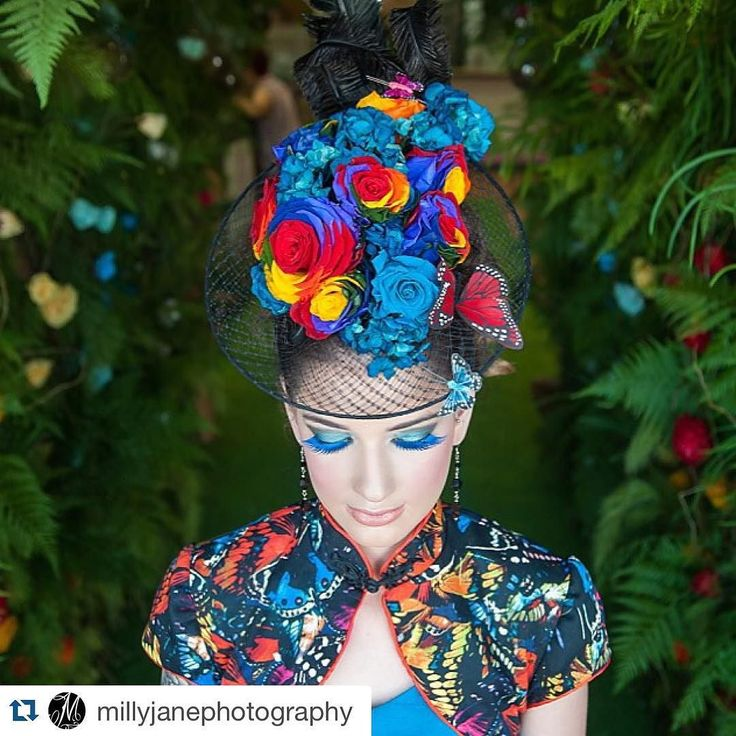 #Repost @millyjanephotography with @repostapp.  Thank you @northsideflowermarket for having me along to photograph your incredible Enchanted Rose launch last night! Beautiful Savannah rocking an enchanted rose piece by @belle.folie.designs outfit by @rebeccacobbing makeup by @velbella #northsideflowermarket #enchantedrose #rainbowrose #racewear  by northsideflowermarket