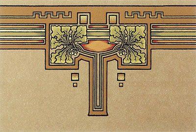 Bradbury Craftsman Style Homes   Oakleaf Wallpaper Border & Frieze