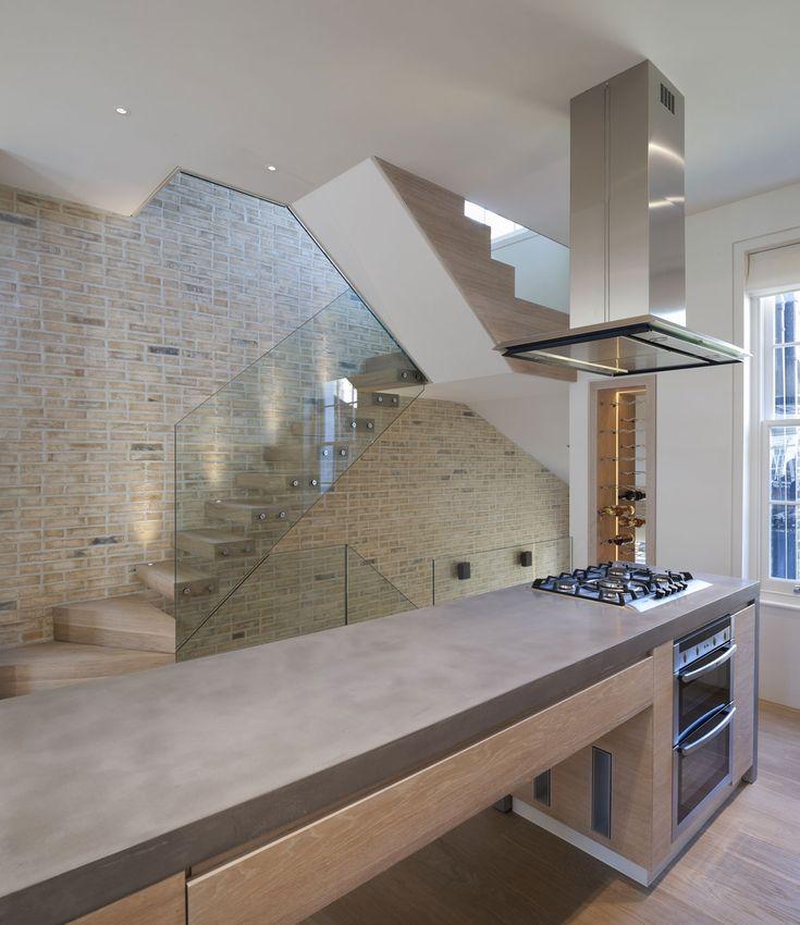 concrete stone kitchen worktop bench space design