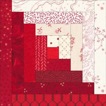 traditional quilt blocks   Traditional Log Cabin Quilt Block with cutting instructions ...   qui ...