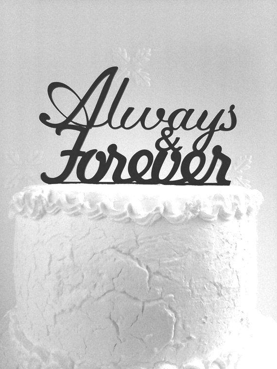 Always & Forever Cake Topper  Custom Wedding от CakeTopperDesign