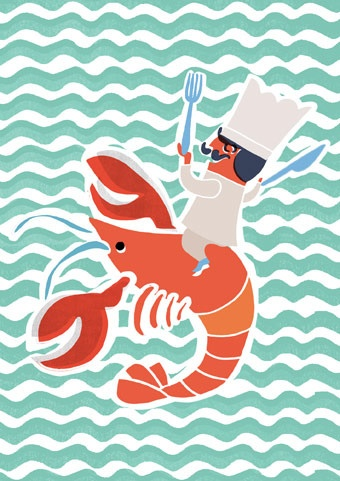 Image of Lobster Mini Print #JoesCrabShack | Joe's Maine Event | Pinterest
