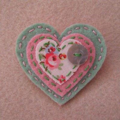 Shabby Chic Handmade Brooch  eBay