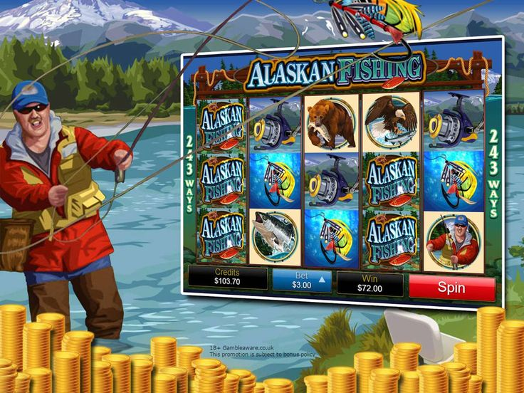 Experience the Alaskan Fishing- a slot game set against the cold Northern landscape with some cool bonus features!