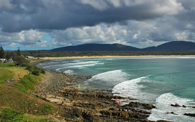 Crescent Head, NSW mid-north coast. A fantastic family holiday destination if you love surfing, fishing and lazing around.