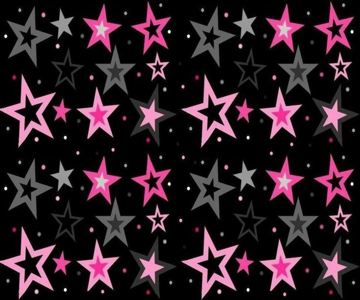Hot Pink And Black Star Backgrounds pink & gray stars with black ...