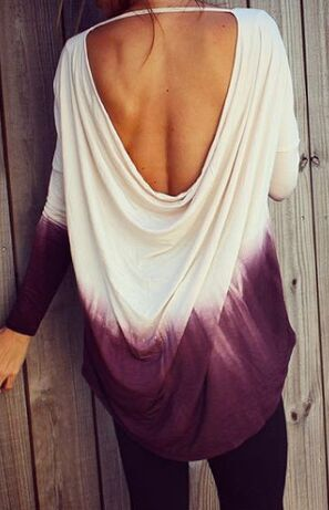 Ombre Backless Top